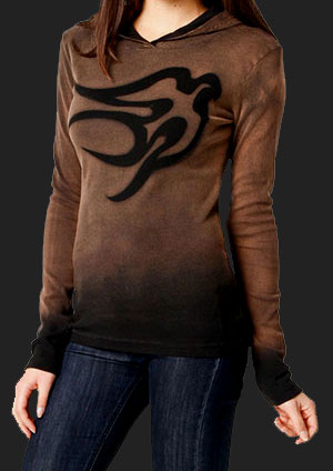 Women's Dove Hoodie in Color Pelt
